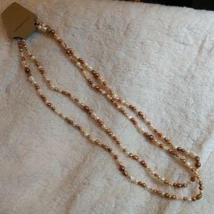 Coldwater Creek Long Pearl Necklace